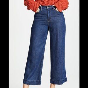 New Hudson High Waist Wide Leg Crop Jean